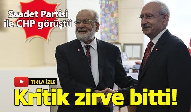 Saadet, CHP Görüşmesi sonrası iki liderden ilk açıklamalar...