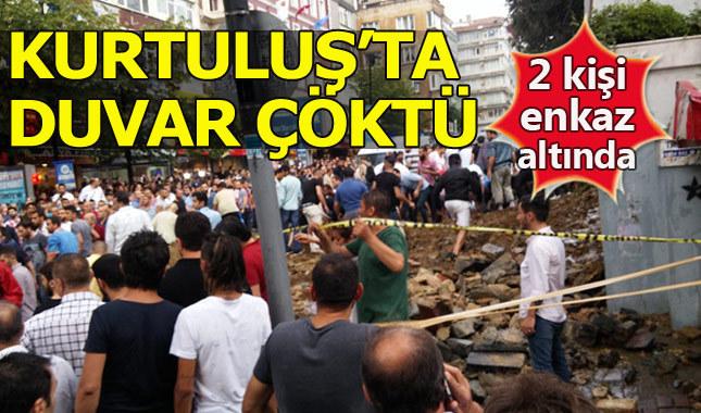 Şişli Kurtuluş'ta mezar duvarı çöktü: En az 2 yaralı