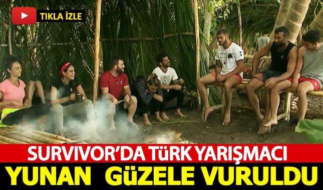 Survivor'da Türk yarışmacı Yunan güzele vuruldu