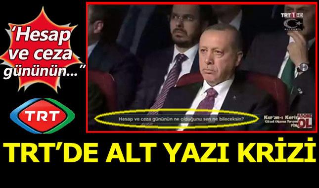 TRT'de alt yazı krizi devam ediyor