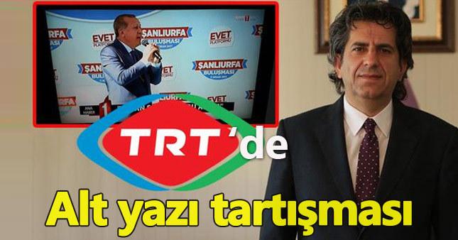 TRT'de alt yazı tartışmaları