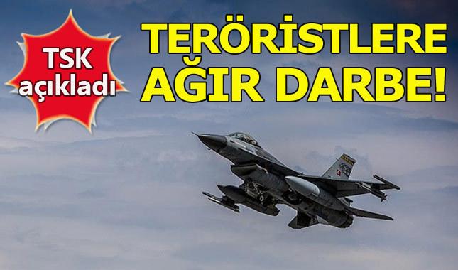 TSK'dan Irak'ın kuzeyindeki Zap'a hava harekatı