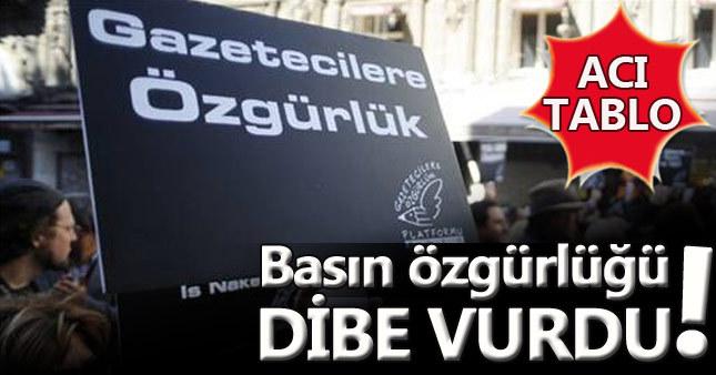 Türkiye basın özgürlüğünde dibe vurdu