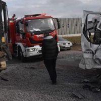 Tekirdağ'da korkunç kaza: 14 yaralı
