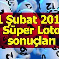 1 Şubat 2018 Süper Loto çekiliş sonuçları açıklandı - Milli Piyango İdaresi