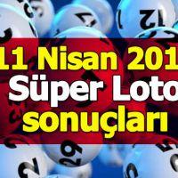 11 nisan süper loto sonuçları   11 04 2019 Süper Loto çekiliş sonuçları MPİ