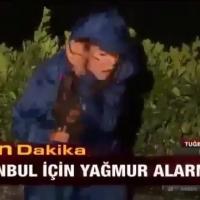 İstanbul'daki dolu yağmurunda ATV muhabirinin zor anları