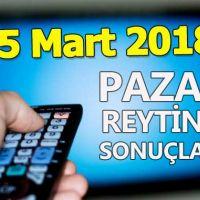 25 Mart 2018 Pazar reyting sonuçları açıklandı - Total AB reyting oranları ve sıralaması