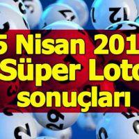 Süper Loto sonuçları 5 Nisan 2018 - Milli Piyango İdaresi 5 Nisan Perşembe