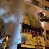 5 katlı apartmanda korkutan yangın!