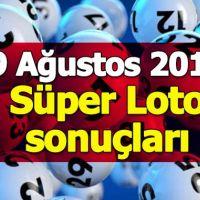 9 Ağustos Süper Loto çekiliş sonuçları açıklandı - 2018 Süper Loto ikramiyesi ne kadar - Milli Piyango İdaresi