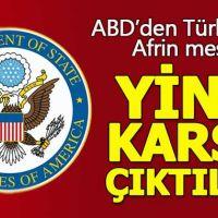 ABD, Türkiye'nin Afrin operasyonuna karşı çıktı