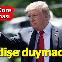 ABD başkanı Donald Trump'tan Kuzey Kore açıklaması