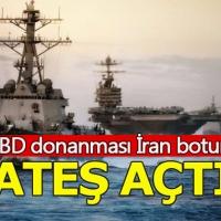 ABD donanması İran askeri botuna ateş açtı