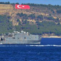 ABD gemisi Çanakkale'de