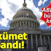 ABD'de hükümet resmen kapandı!