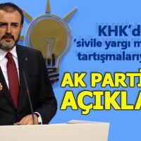 """AK Parti'den KHK'daki """"sivile yargı muafiyeti"""" tartışmalarına yanıt"""