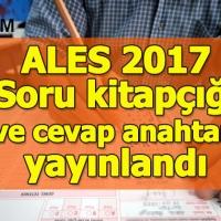 ALES soru kitapçığı ve cevap anahtarı yayınlandı - Ales puan hesaplama 19 Kasım 2017