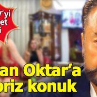 Adnan Oktar'ın kanalında sürpriz ziyaretçi