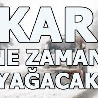 Adana Ağrı Antalya İstanbul Ankara İzmir Bolu Şanlıurfa Konya Gaziantep Trabzon kar ne zaman yağacak