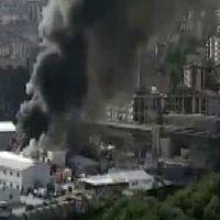 Alibeyköy'de metro inşaatında yangın!
