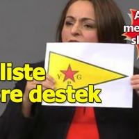 Alman Meclisi'nde skandal, YPG'nin sözde bayrağını açtı
