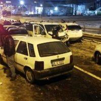 Ankara'da 28 araçlı zincirleme kaza: 7 yaralı