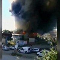 Ankara'da fabrika yangını