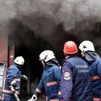 Bakırköy'de hurda deposunda yangın