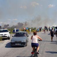 Balıkesir'de sazlık alanda yangın