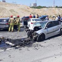 Başakşehir'de zincirleme kaza: 3 yaralı