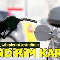 Benzin fiyatlarına indirim yapıldı (benzin kaç tl?)