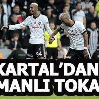 Beşiktaş 5 -1 Osmanlıspor maçın özeti ve golleri