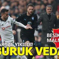 Beşiktaş evinde Malmö'ye 1-0 yenildi (Beşiktaş Malmö Geniş Özet)