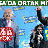 CHP ile İYİ Parti, Bursa'da ortak miting düzenledi