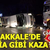 Çanakkale'de minibüs ve TIR çarpıştı: Çok sayıda ölü ve yaralı
