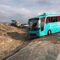 Çankırı'da otobüs devrildi: 34 yaralı