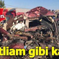 Çorum'da feci kaza: 5 kişi öldü