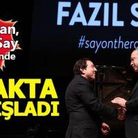 Cumhurbaşkanı Erdoğan, Fazıl Say'ı ayakta alkışladı