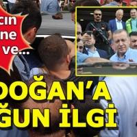 Cumhurbaşkanı Erdoğan'a Rize'de büyük ilgi