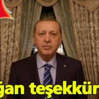 Cumhurbaşkanı Erdoğan'dan  doğum günü teşekkür mesajı
