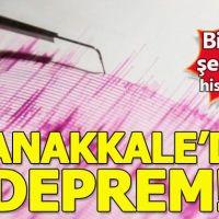 Deprem mi oldu | Çanakkale'de şiddetli deprem 20 Şubat 2019 Çarşamba Son depremler İstanbul İzmir Bursa Balıkesir