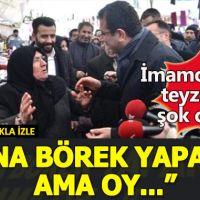 Ekrem İmamoğlu ve Ak Parti'li kadın arasındaki diyalog güldürdü