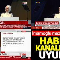 Ekrem İmamoğlu'nun mazbatasını aldı, haber kanalları Emine Erdoğan'ı verdi