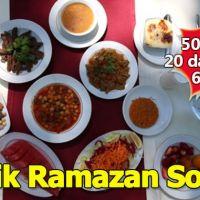 En masrafsız, ucuz iftar sofrası 50 TL'ye 20 dakikada 6 kişi için sofra nasıl hazırlanır?
