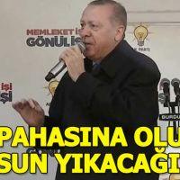 Erdoğan Burdur'da vatandaşlara sesleniyor