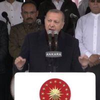 Erdoğan, Kuzey Yıldızı Camii'nin açılışını yaptı!