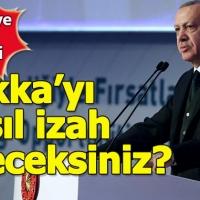 Erdoğan, Rakka'daki Öcalan posterlerine tepki gösterdi