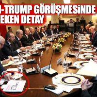 Erdoğan-Trump görüşmesinde dikkat çeken detay!