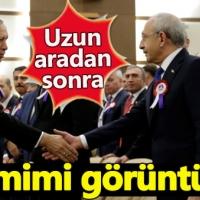 Erdoğan ve Kılıçtaroğlu referandumdan sonra ilk kez bir arada